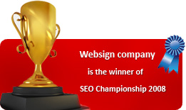 Websign company is the winner of SEO Championship 2008